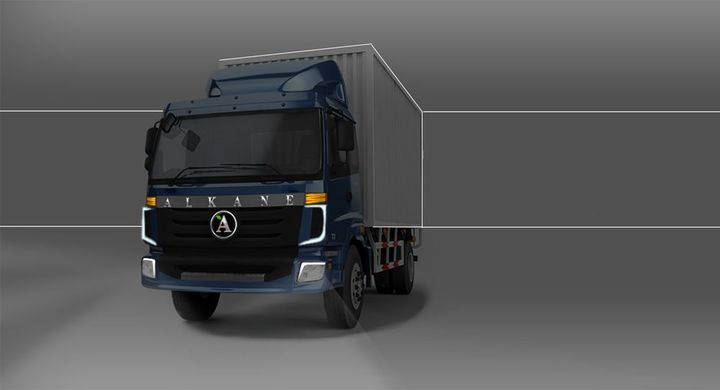 evLABs is working with Alkane Truck Company to develop a battery-electric Class 6 low cab forward truck. - Image courtesy of evLabs