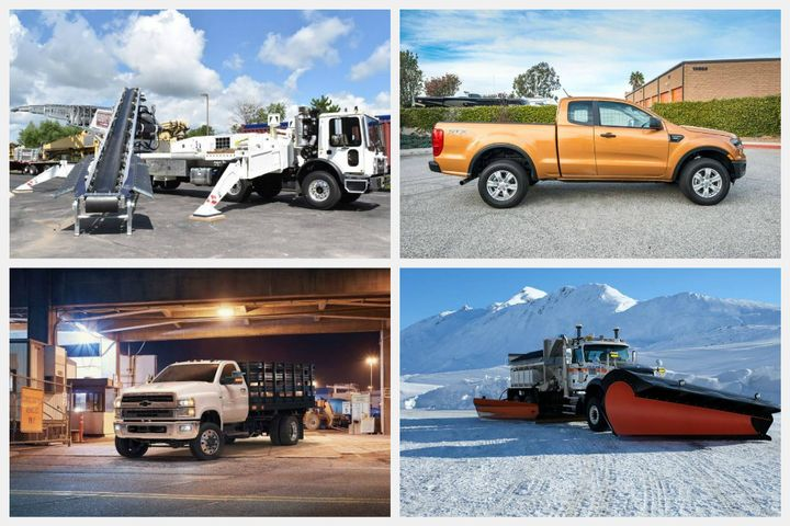 - Photos courtesy of Terex, Ford, General Motors, Mack