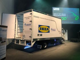 First 100% Electric Delivery Truck for IKEA's All-Electric Goal