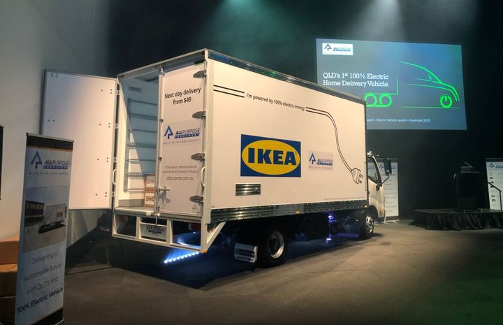 IKEA's bold vision for a 100% electric home delivery fleet by 2025 is seeing fleet delivery services such as APT partner with SEA Electric to build all-electric delivery trucks. - Photo: SEA Electric