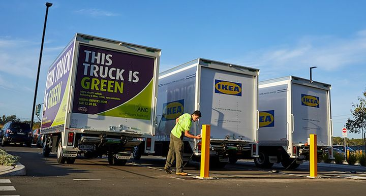 IKEA is a corporate member of the EV100 group of companies joining the likes of DHL, Heathrow Airport, Hewlett Packard and Swiss Post. - Photo: SEA Electric