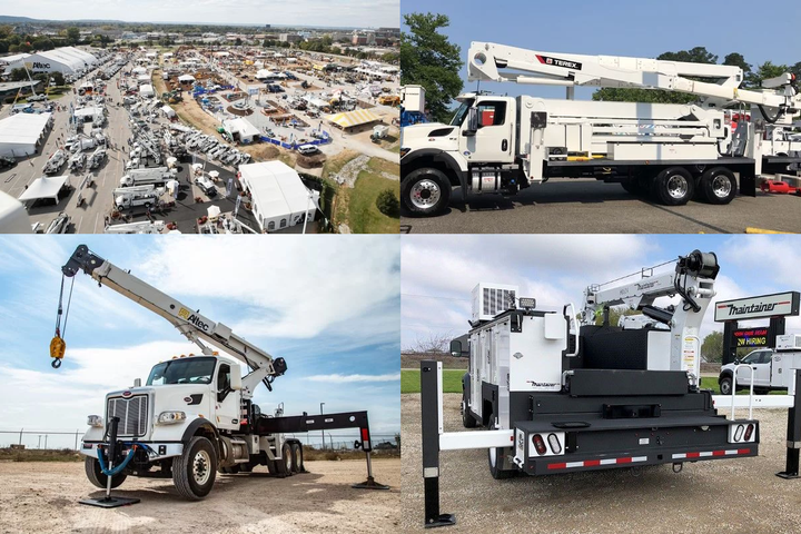 - Photos courtesy of (clockwise from top left) ICUEE, Terex, Maintainer, and Altec