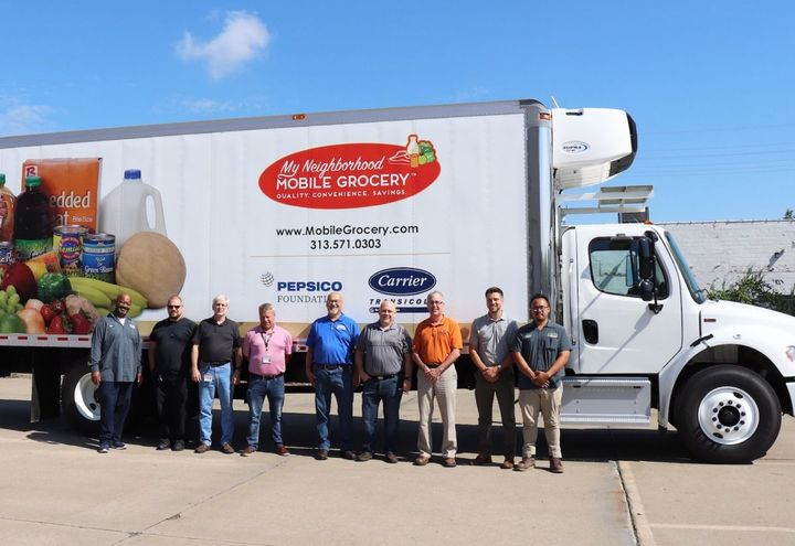 To help support the Gleaners mission, Carrier Transicold of Detroit installed the Supra 960MT unit on a 28-foot box truck. - Photo: Carrier Transicold