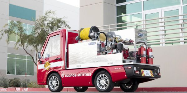 The Tropos Motors' right-sized firetruck is outfitted with a rugged Panasonic TOUGHBOOKTM FZ-G1...
