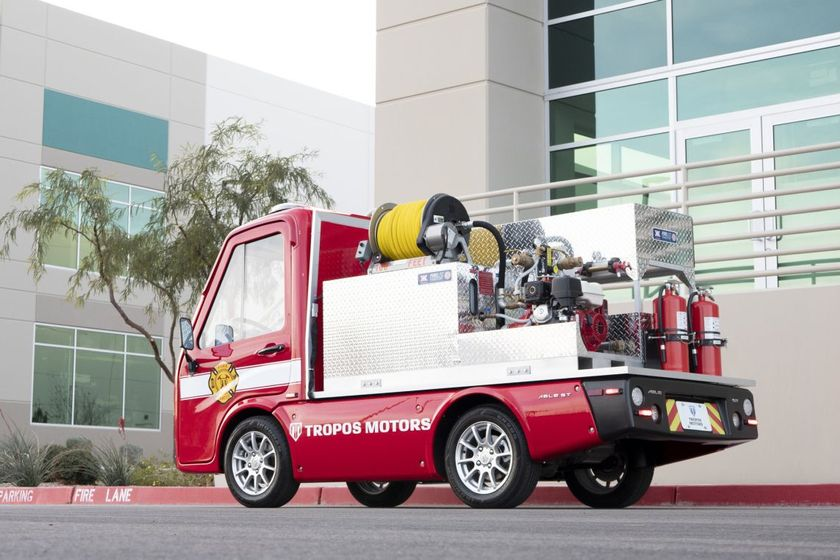 The Tropos Motors' right-sized firetruck is outfitted with a rugged Panasonic TOUGHBOOKTMFZ-G1...