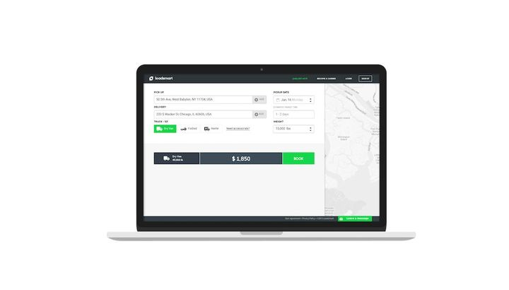 With API integration directly to both the carrier and the shipper TMS, Smart Match uses the location of trucks to instantly connect available capacity with shipper demand which can maximize revenue per loaded mile for fleets. - Photo: Loadsmart