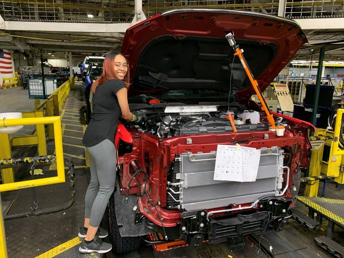 Chantese Wortham is one of the many GM employees who transitioned recently from temporary to regular full-time employment at Flint Assembly. - Photo: General Motors