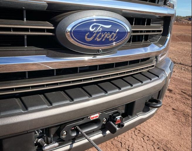 The new Ford Performance Parts winch by Warn comes with 12,000 pounds of winching power. - Photo: Ford