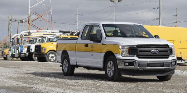 Six new XL plug-in hybrid electric Ford F-150 pickup trucks have been added to the SWBNO fleet.