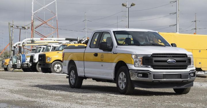 Six new XL plug-in hybrid electric Ford F-150 pickup trucks have been added to the SWBNO fleet.  - Photo: XL Fleet
