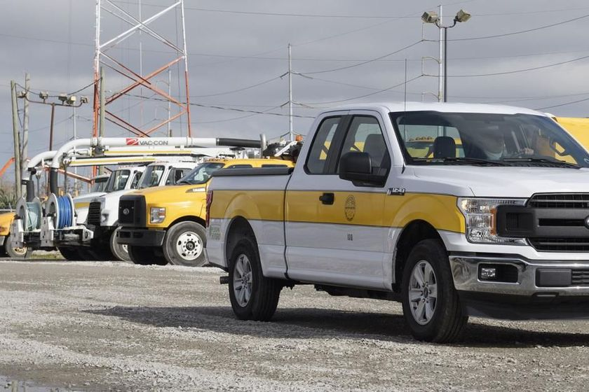 Six new XL plug-in hybrid electric Ford F-150 pickup trucks have been added to the SWBNOfleet.