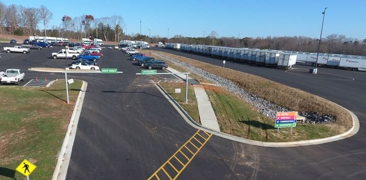 At its headquarters location, Cargo Transporters recently opened a new parking area for drivers. - Photo: Cargo Transporters