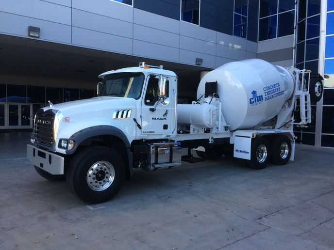 Mack Trucks donated a 2019 Mack Granite Axle Forward model to the 15th annual Concrete Industry Management (CIM) auction, taking place February 5 during World of Concrete 2020 at the Las Vegas Convention Center. - Photo: Mack Trucks
