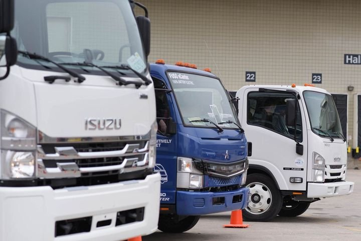 The vehicle lineup is set at The Work Truck Show Ride-and-Drive. Show attendees can experience the industry's latest advanced technologies and alternative fuel applications. - Photo: NTEA