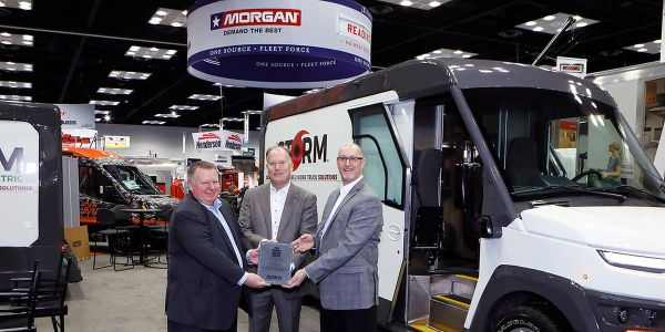 Morgan Olson's Storm Class 2 step van prototype won the Work Truck Show Innovation Award in the...
