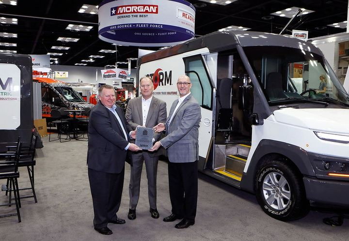 Morgan Olson's Storm Class 2 step van prototype won the Work Truck Show Innovation Award in the Body Concept category. - Photo: NTEA