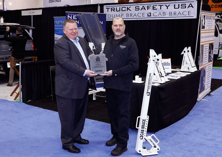 Truck Safety USA LLC's Cab Brace  won the Work Truck Show Innovation Award in the Safety category. - Photo: NTEA