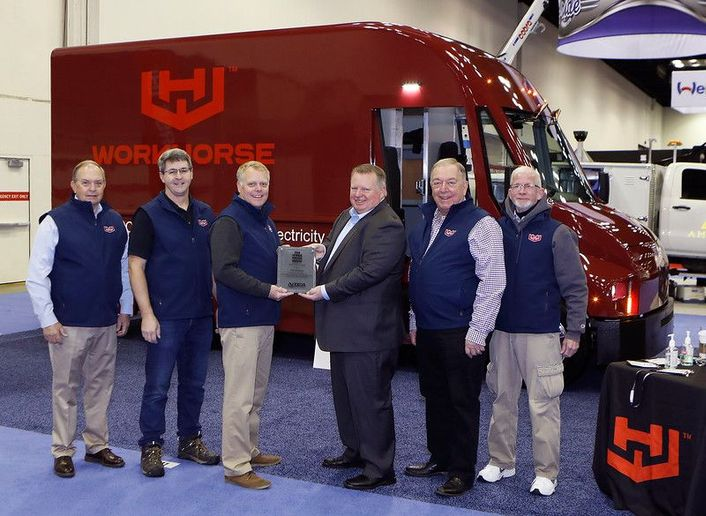 Workhorse's C-Series lightweight step van won the Work Truck Show Innovation Award in the Green category. - Photo: NTEA
