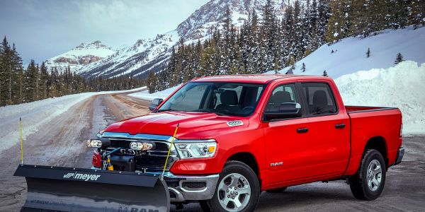 The new Snow Plow prep package is available on 2021 Ram 1500 Tradesman, Big Horn, and Laramie...