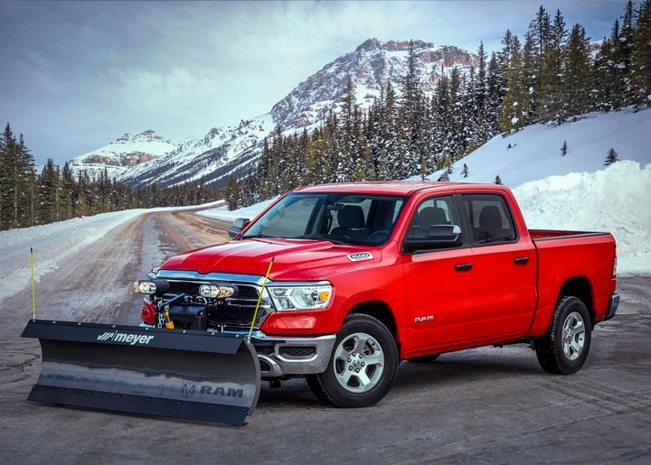The new Snow Plow prep package is available on 2021 Ram 1500 Tradesman, Big Horn, and Laramie 4x4 models. - Photo courtesy of Ram Trucks