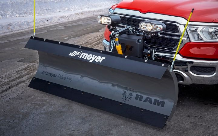 The Snow Plow Prep package includes 220-amp alternator, wiring for a snow plow, and rear-power sliding window with defroster. - Photo courtesy of Ram Trucks
