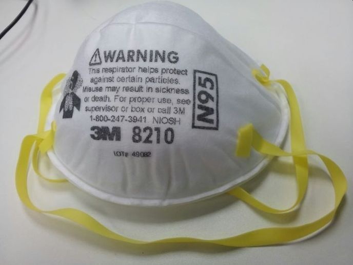 The N95 designation means the respirator can block at least 95% of particles from entering the wearer's nose and mouth. - Photo: Creative Commons