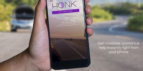 Honk features a network of more than 75,000 towing and roadside assistance service vehicles is...