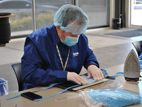 Genie Produces Protective Gear for Hospital