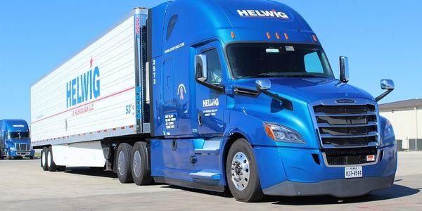 Helwig总部位于德克萨斯州的特雷尔(Terrell),经营卡车在整个地区拖运冷藏货物