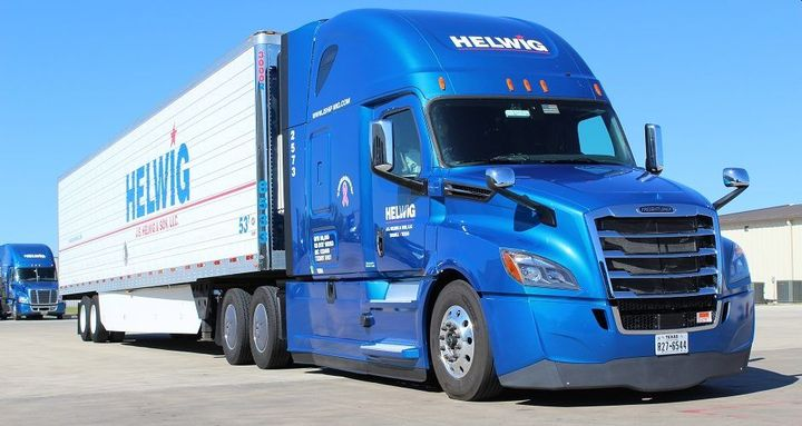 Headquartered in Terrell, Texas, Helwig operates 350 trucks hauling refrigerated goods across the Midwest, southeast, and northeast United States.  - Photo: J.S. Helwig & Sons