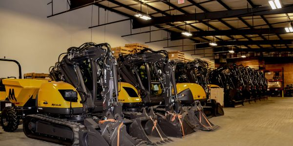 Mecalac's new facility centralizes administrative offices, equipment inventory, parts, and...