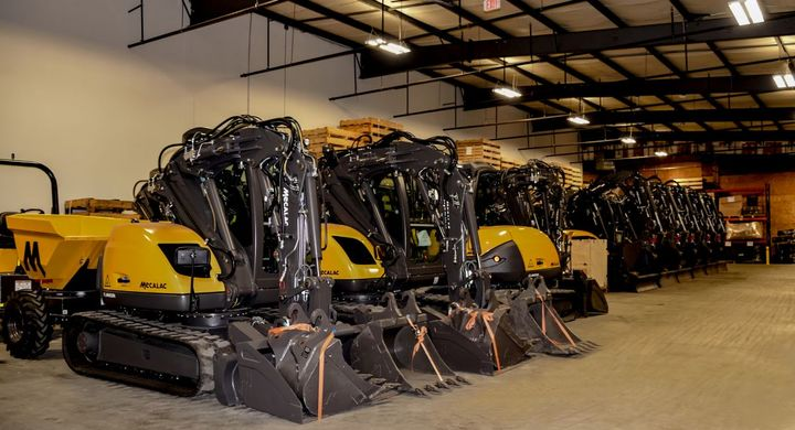 Mecalac's new facility centralizes administrative offices, equipment inventory, parts, and service support in one building, replacing the three separate locations the company maintained previously, as well as houses an in-house training facility. - Photo: Mecalac