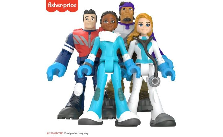Fisher-Price's #ThankYouHeroes assortment includes 16 different action figures featuring a selection of doctors, nurses, EMTs, and delivery drivers. - Photo: Mattel