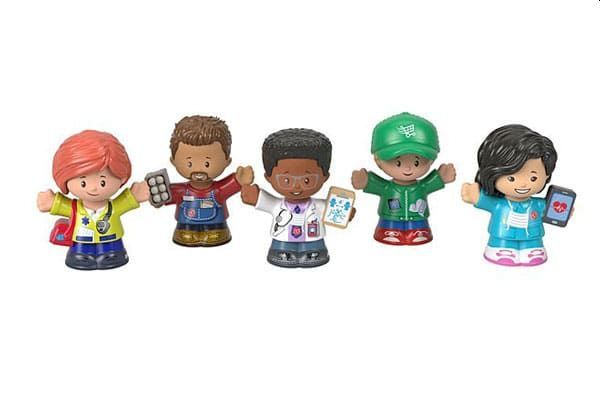 A special five-character Little People set will be comprised of a doctor, nurse, EMT, delivery driver, and grocery store worker. - Photo: Mattel