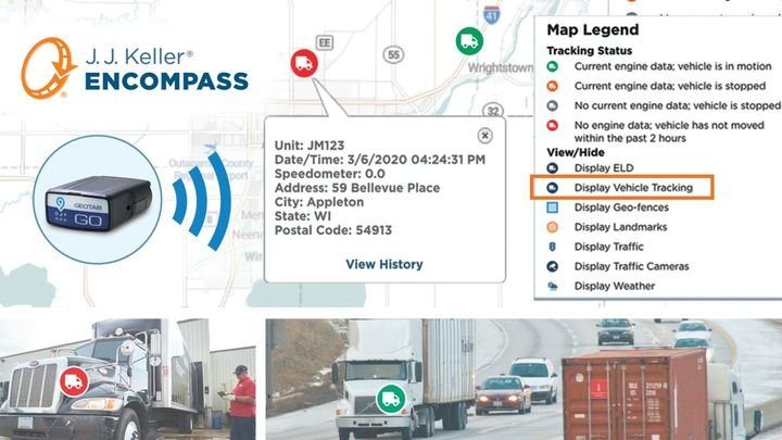 Encompass Vehicle Tracking is part of the Encompass Platform. - Image: J.J. Keller