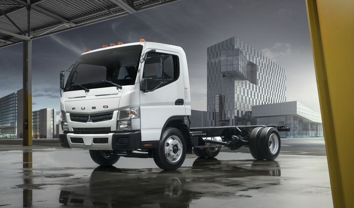 In 2018, Mitsubishi Fuso Truck of America began offering Allison Transmissions in its Class 4 and Class 5 FE Series cabovers.  - Photo: MFTA