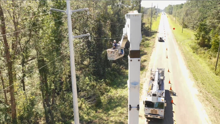 Duke Energy crews have worked through many hurricanes, including Hurricane Michael in Florida. - Photo: Duke Energy