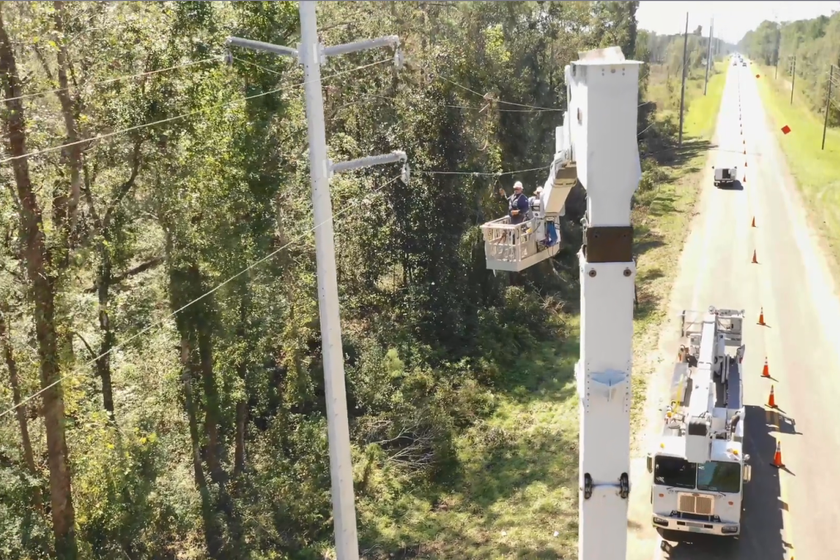 Duke Energy crews have worked through many hurricanes, including Hurricane Michael in Florida.
