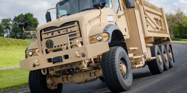 The Mack Defense M917A3 HDT is based on the civilian Mack Granite model.