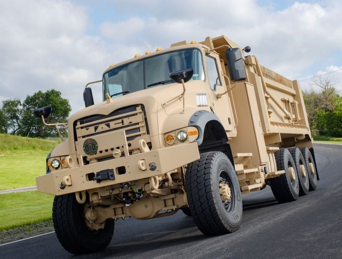 The Mack Defense M917A3 HDT is based on the civilian Mack Granite model. - Photo: Mack Trucks