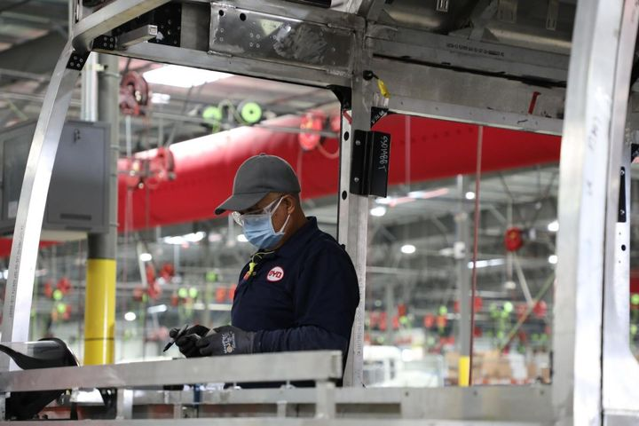 As it reopens, BYD is focused on the safety of its workforce, many of whom are members of the Sheet Metal, Air, Rail and Transportation (SMART) Union, Local 105. - Photo: BYD