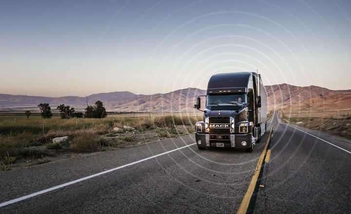 Geotab Connected by Mack is a cloud-based platform and requires no additional installation or hardware on 2015 and newer Mack truck models. - Photo: Mack Trucks