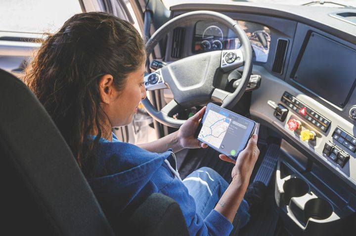 The new bundles deliver telematics and regulatory components with additional available solutions, including CoPilot Truck in-cab navigation. - Photo: Trimble