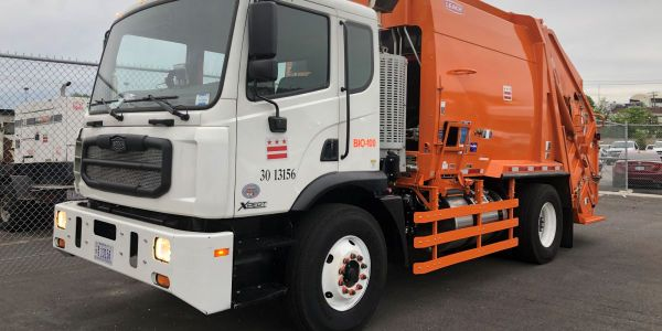 The DPW intends to have close to 100 trucks upgraded with Optimus Technologies' biodiesel fuel...