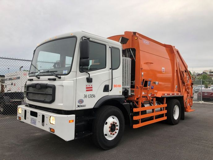 The DPW intends to have close to 100 trucks upgraded with Optimus Technologies' biodiesel fuel systems within the next year.   - Photo: Optimus