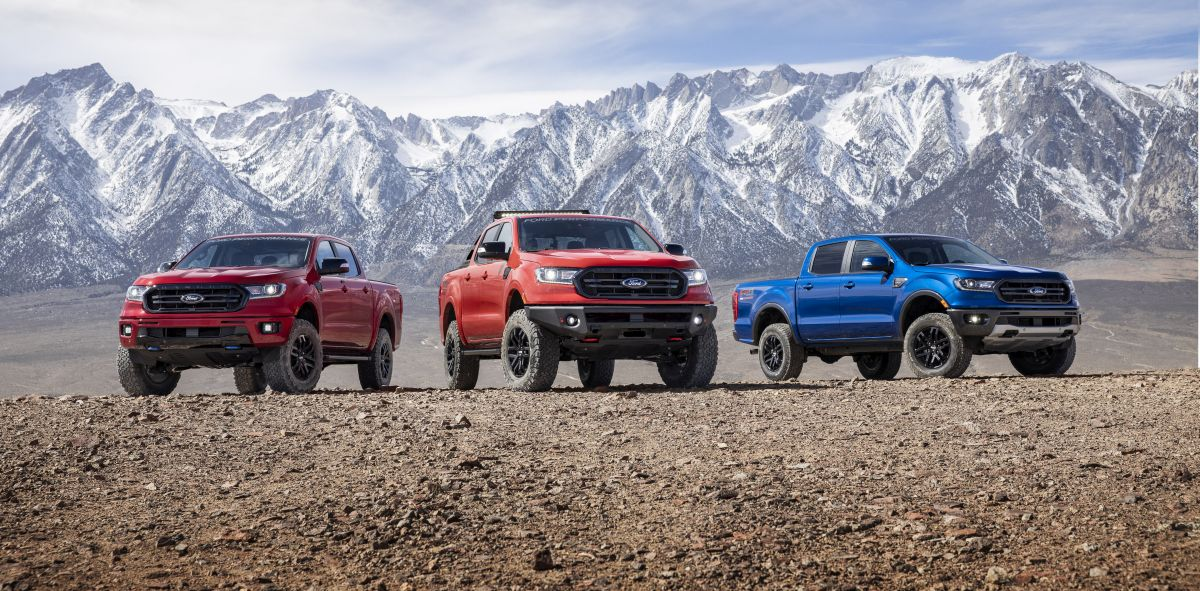Ford Ranger Adds 3 New Performance Packages