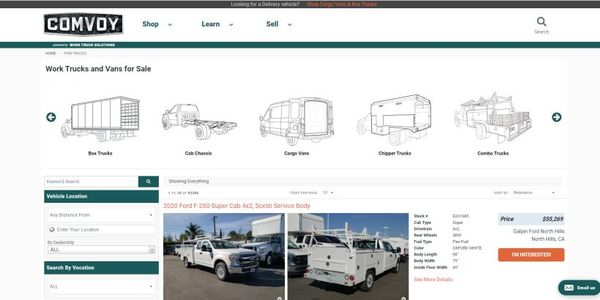 NTEA upfitters will also have their own inventory listed on Comvoy.com, a commercial vehicle...