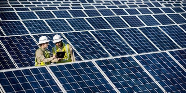 The 200-MWac Holstein Solar project contains over 709,000 solar panels across approximately...