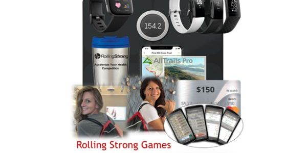 Points are accumulated by participating in weekly Rolling Strong coaching and HIGI health...