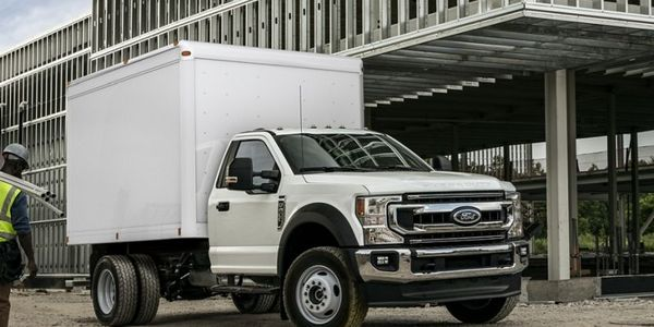 The new Lightning Electric F-550 includes Lightning's in-vehicle dash screen display, providing...